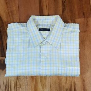 Robert Talbott Yellow Blue LS Shirt